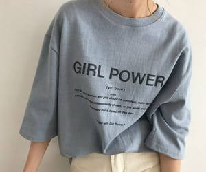 aesthetic, blue, and girl power image