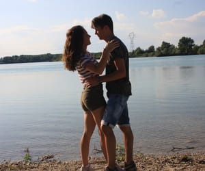 blue, couple, and cute couple image