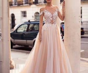 wedding, wedding dress, and bride image