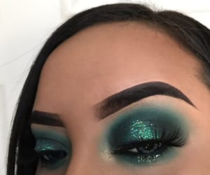eye, green, and brows image