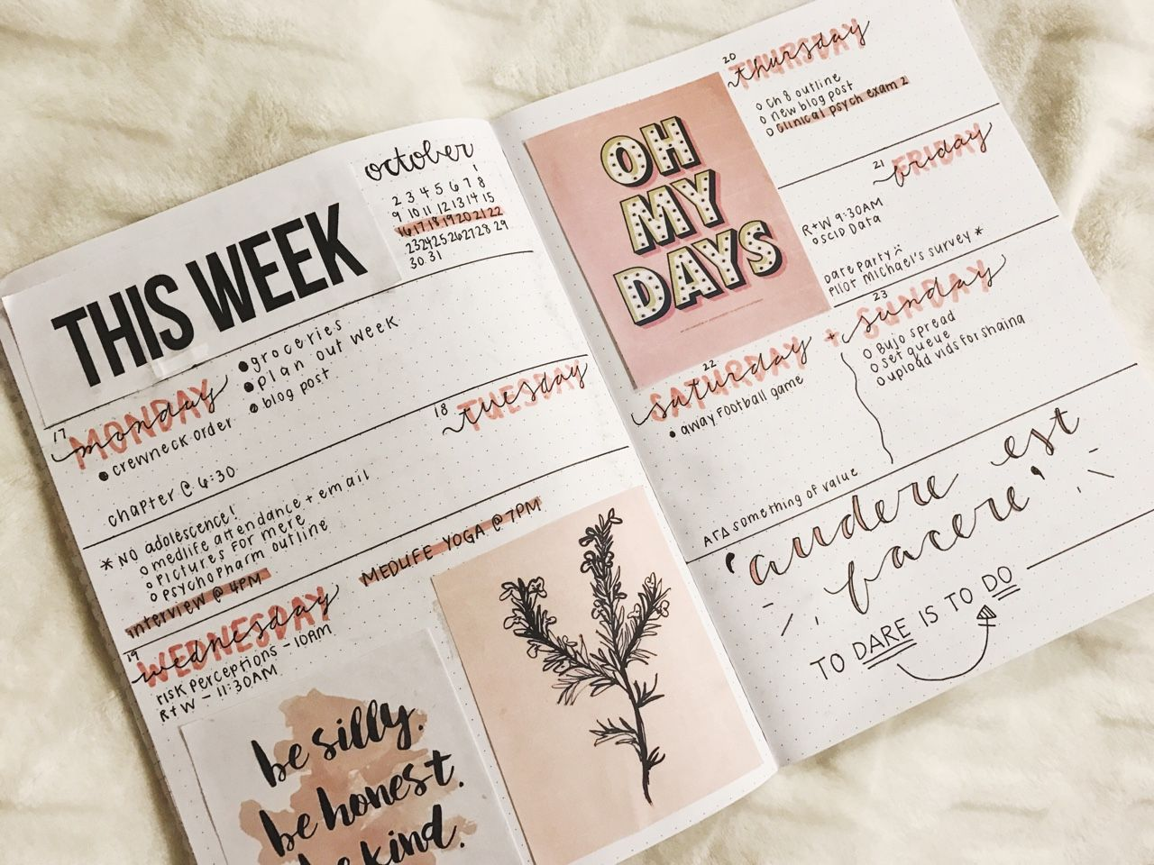 bujo monthly theme ideas