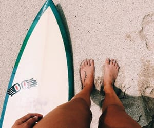 beach, surf, and legs image