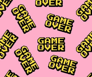 wallpaper, pink, and game over image