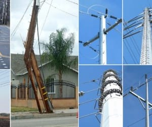 utility pole suppliers, electrical power pole, and commercial light pole image