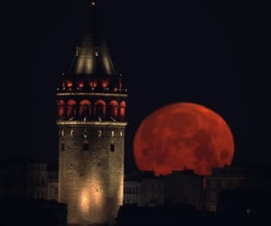 istanbul, moon, and red image