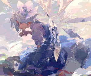 anime girl art, cirno, and touhou project image