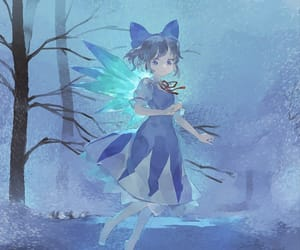 cirno, touhou project, and anime girl art image