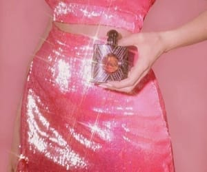 aesthetic, pink, and glitter image