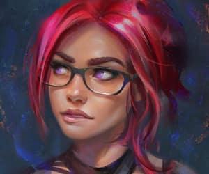 violet eyes, redhead glasses, and avv art image