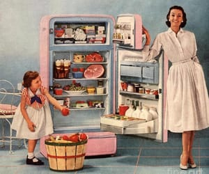 1950, 60s, and food image