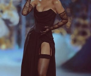 rihanna, black, and dress image