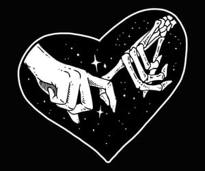hands, heart, and black image