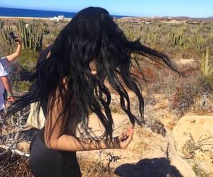 beach, summer, and black hair image