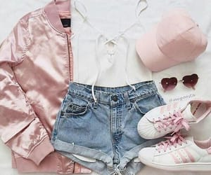 outfit, pink, and style image