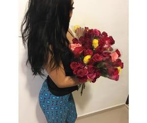 black hair, blue, and bonita image