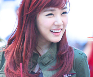 girl, red hair, and smile image