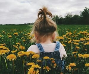 flowers, baby, and kids image
