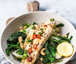 fish, cashew, and food image