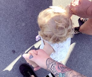 baby, rose, and Tattoos image