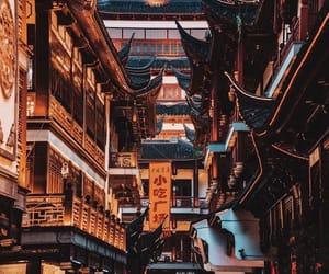 china, lights, and travel image