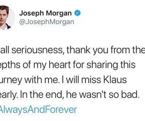 The Originals, tweet, and jomo image