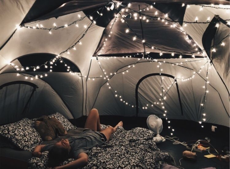 camping, summer, and chill image