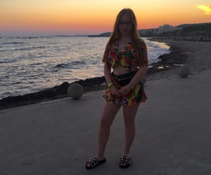 beach, ginger, and redhair image
