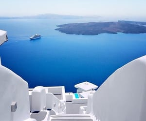 Greece, beautiful, and blue image