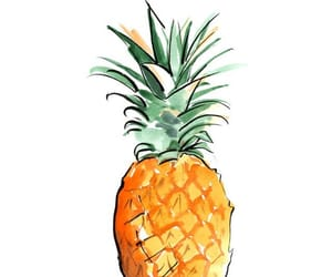 art, pineapple, and watercolor image