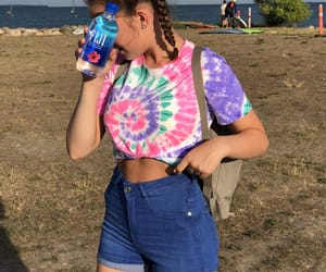 beach, braids, and outfit image