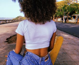 ass, blue, and curly hair image