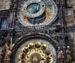 clock, astronomy, and fantasy image