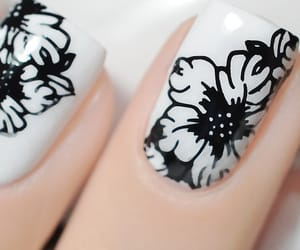 flowers, nails, and nail design image