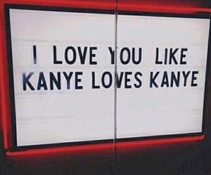 love, kanye, and red image