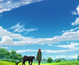anime, clouds, and ruth image