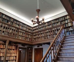 architecture, book shelf, and books image