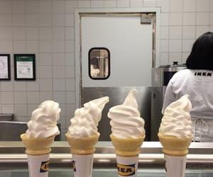 ice cream, food, and white image