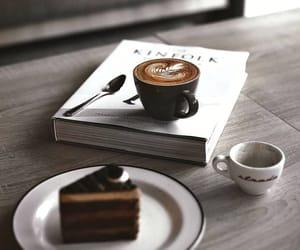 cake, coffee, and enjoy image