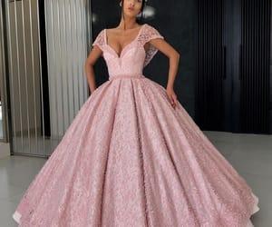 girl, glamour, and nightdress image
