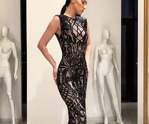 dress, girl, and nightdress image