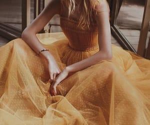 fashion, yellow, and dress image