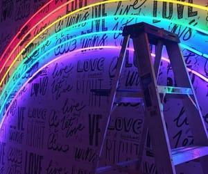 beautiful, inscriptions, and rainbow image