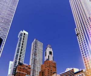 blue sky, chicago, and city image
