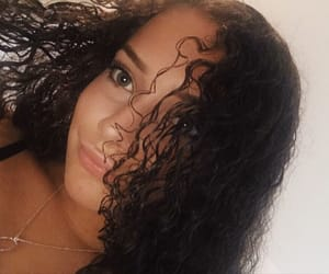 curly, green eyes, and hair image