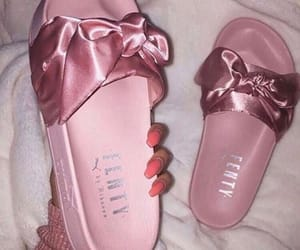 pink, puma, and shoes image
