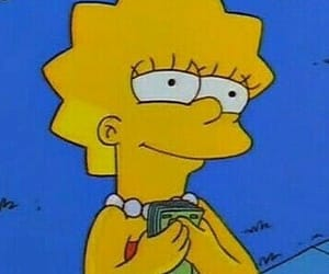 money, simpsons, and lisa simpson image