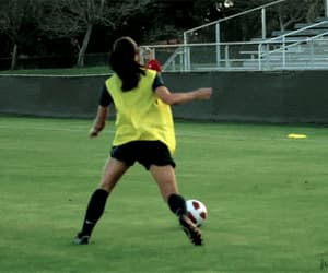 football, girls, and sports image
