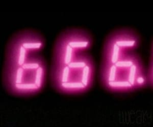 666, neon pink, and pink image