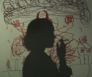 tumblr, grunge, and shadow image