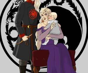 house targaryen, silver prince, and dragon prince image